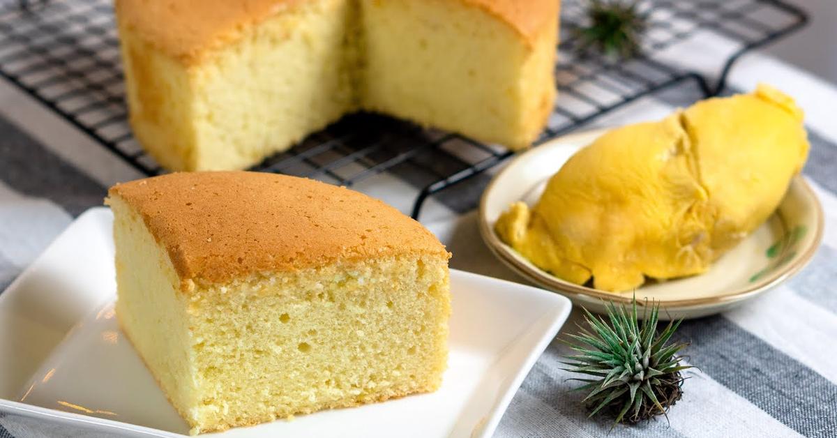 榴莲海绵蛋糕 | 那满满的榴莲香气,真是让人无法抵挡!  Durian Sponge Cake | Full of Durian Aroma 小雁/我的爱心食谱]